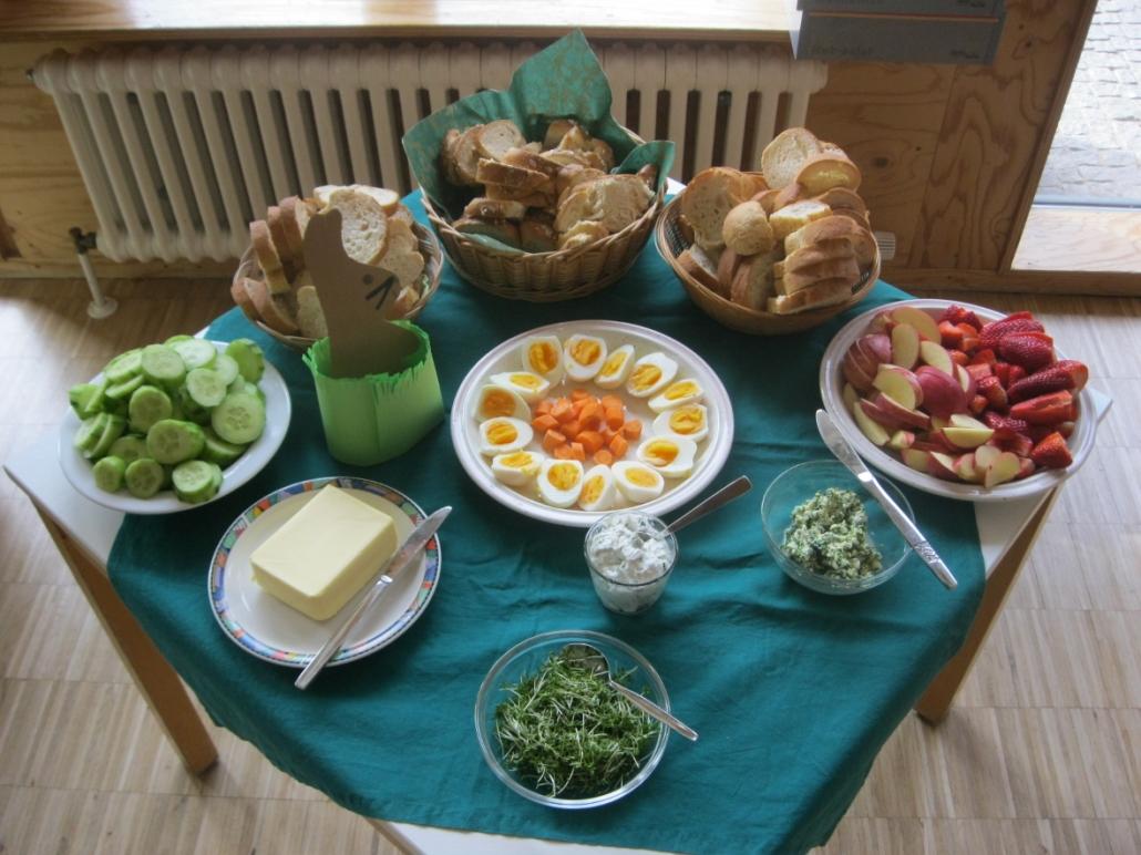 Essen in der KiTa Maximilian Kolbe