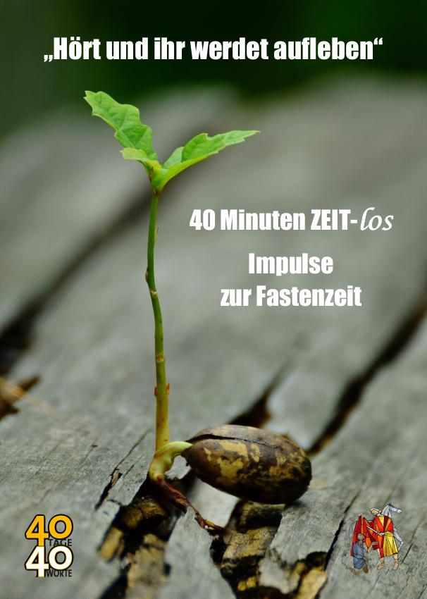 Flyer zu 40 Minuten ZEIT-los